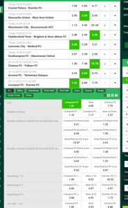 Choose a bet type on LionsBET