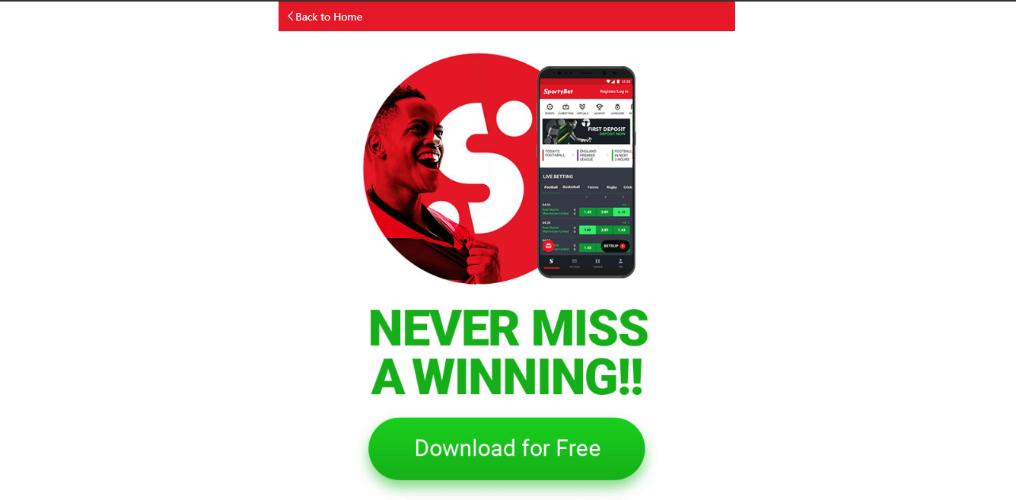 Install sportybet app