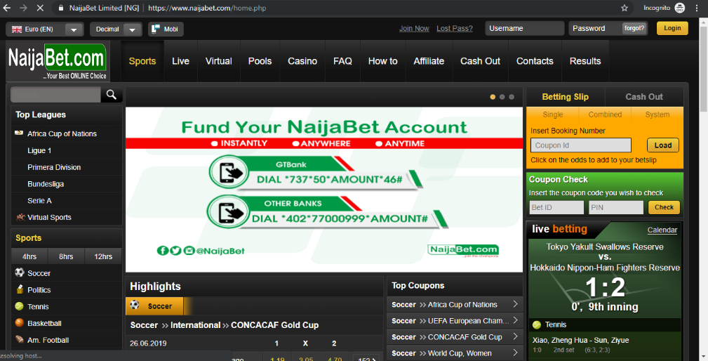 NaijaBet betting platform
