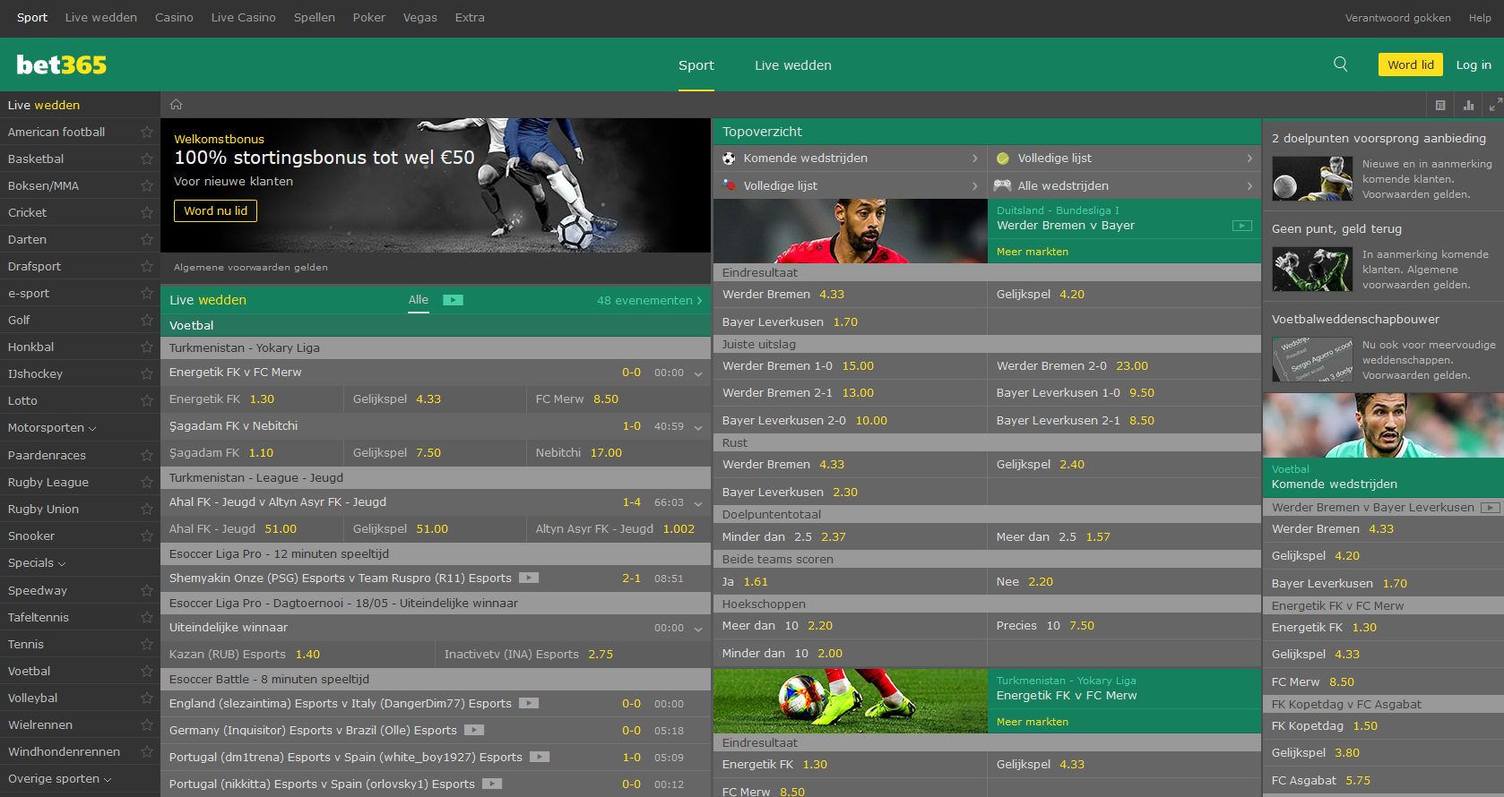 Bet365 official site