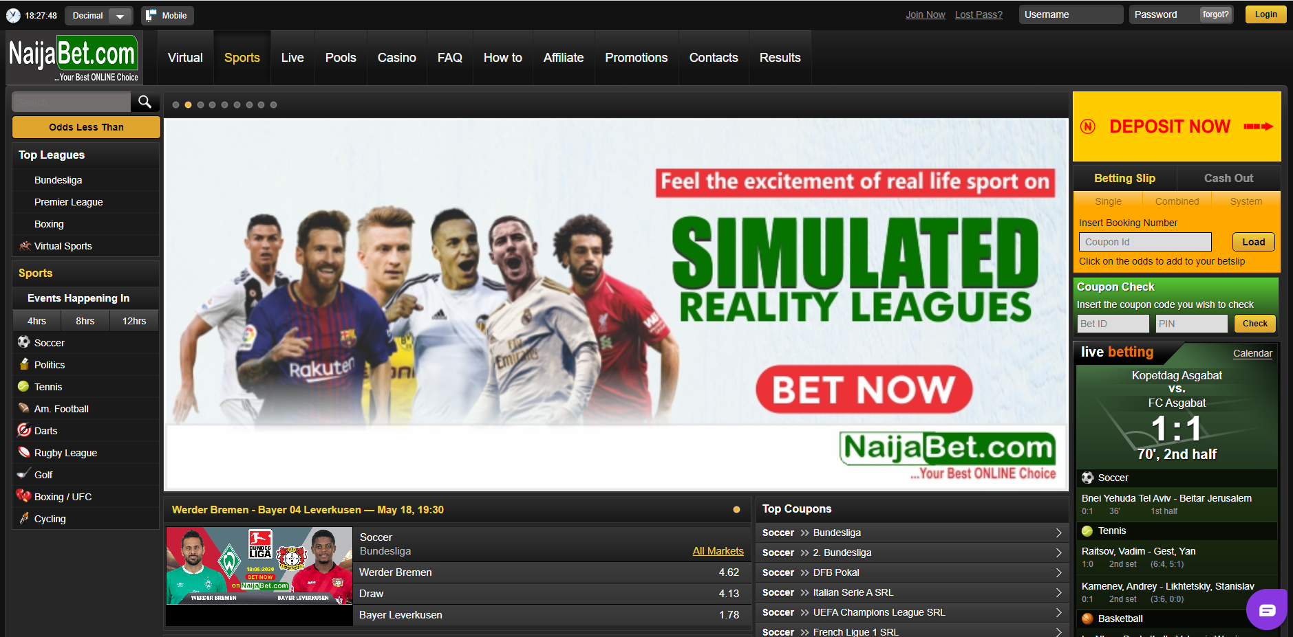 NaijaBet official site