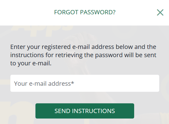 Forgot BetFarm Password