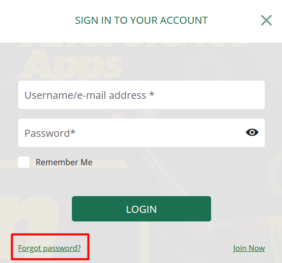 How to resset your BetFarm password