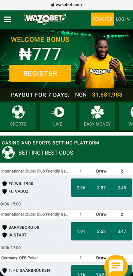 Wazobet mobile version