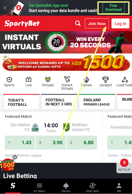 Sportybet where to download