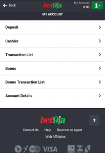 How to place your online bets in any game on the Bet9ja website