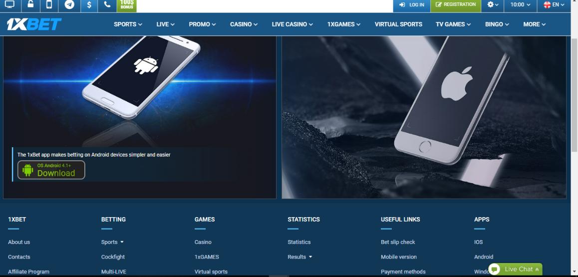 1xbet website