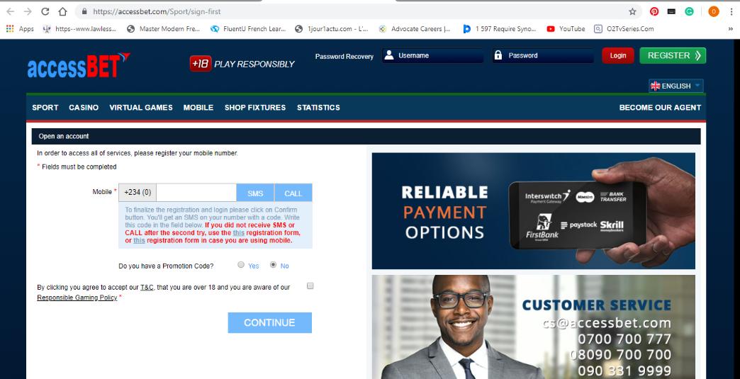 AccessBet website