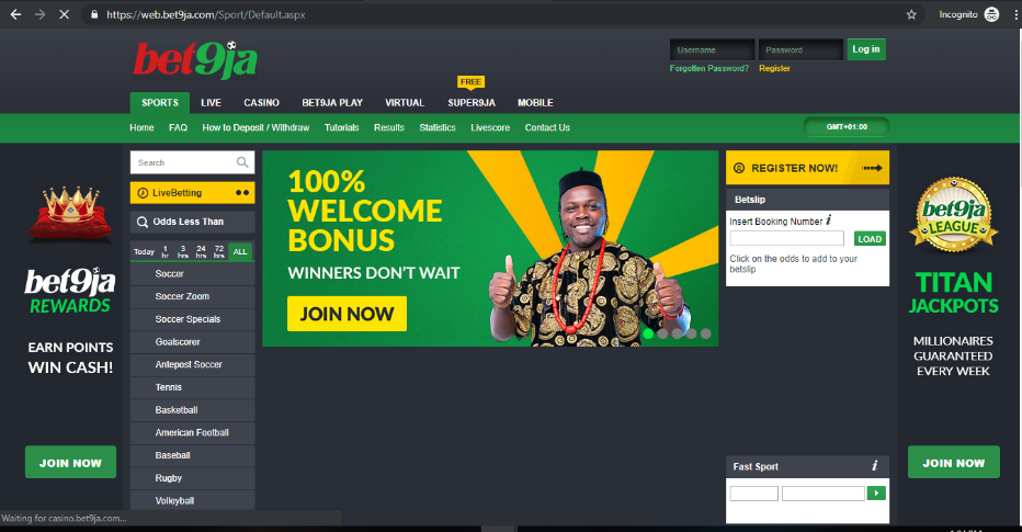 Bet9ja official website