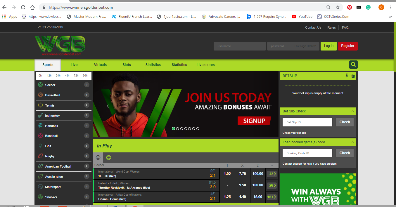 Winners Global Bet Website