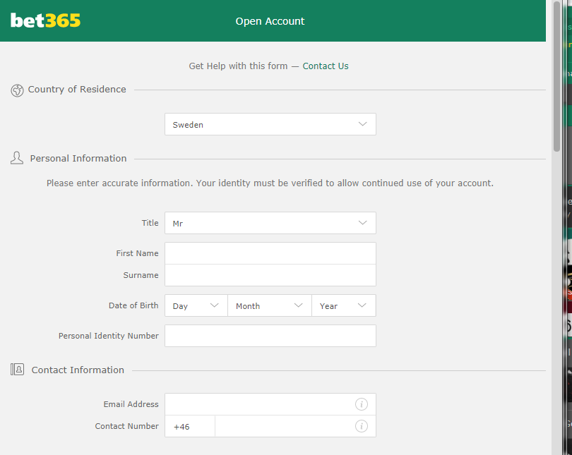 register with Bet365