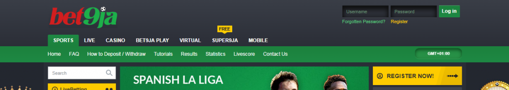 register with Bet9ja.com